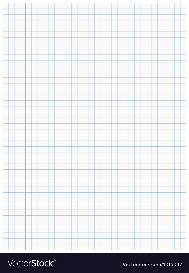 White squared paper sheet background vector | Price: 1 Credit (USD $1)