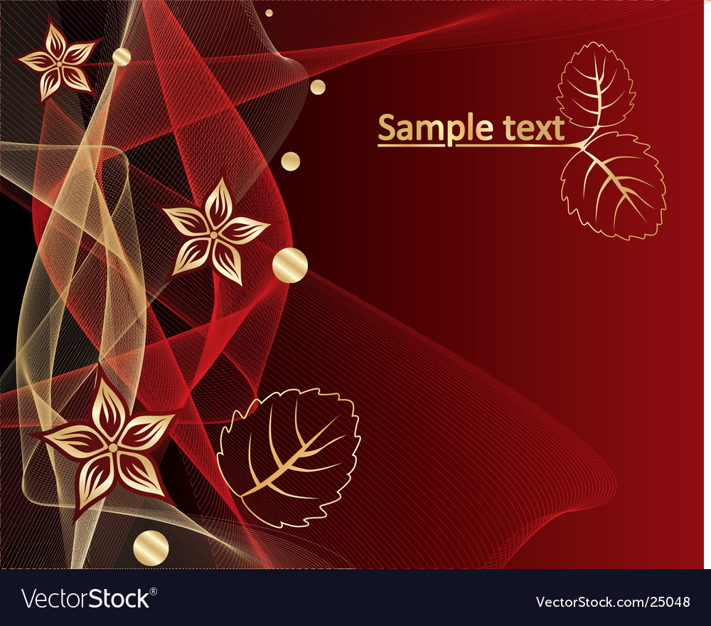 Abstract background with gold pattern vector | Price: 1 Credit (USD $1)