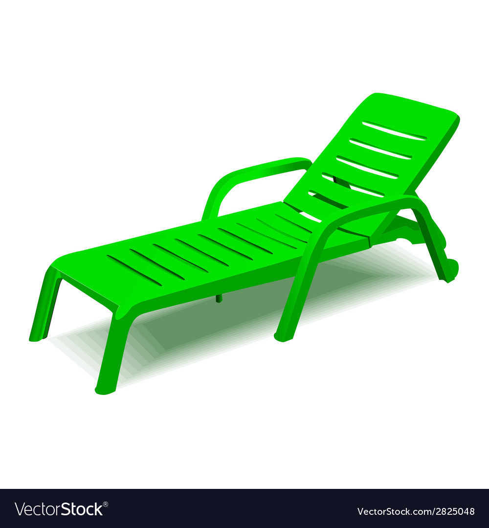 Beach chair with sun symbol on map pointer vector | Price: 1 Credit (USD $1)
