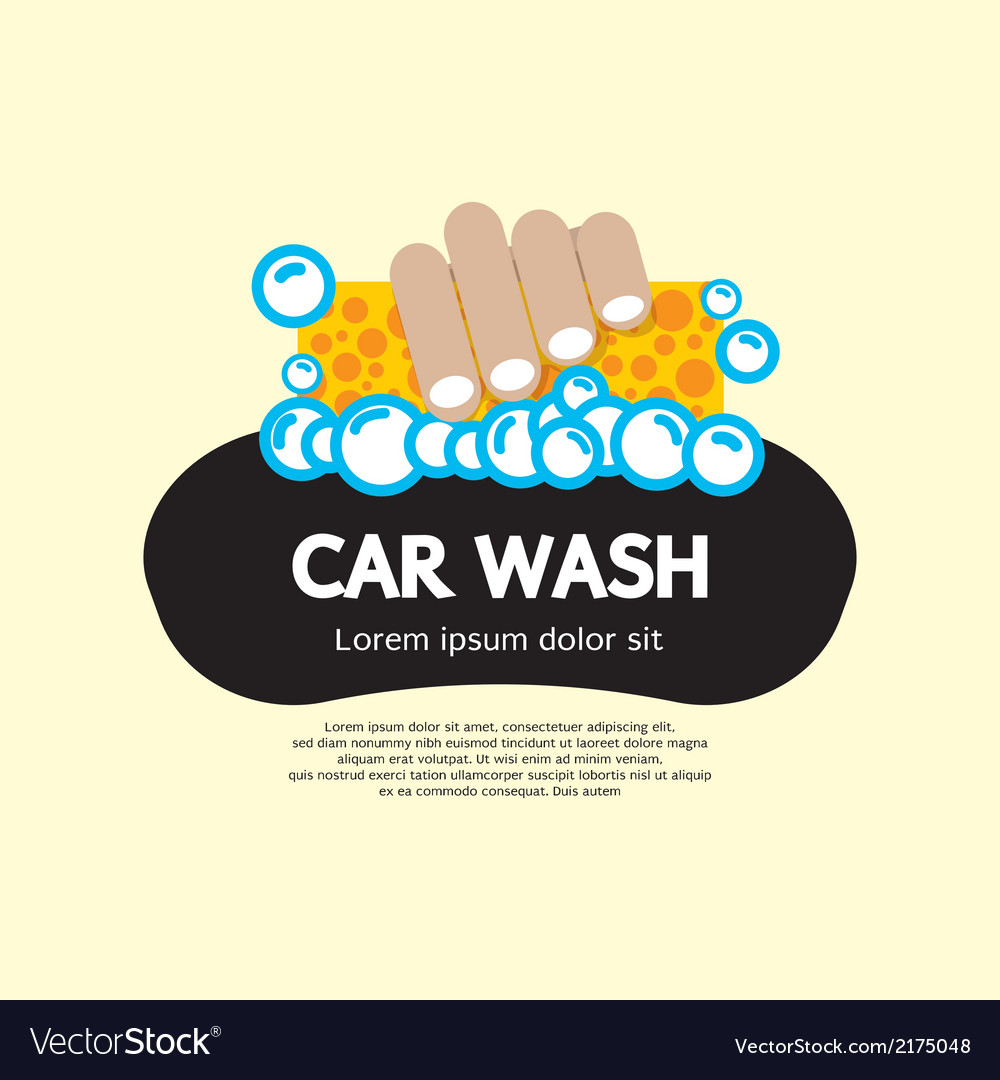 Car wash vector | Price: 1 Credit (USD $1)