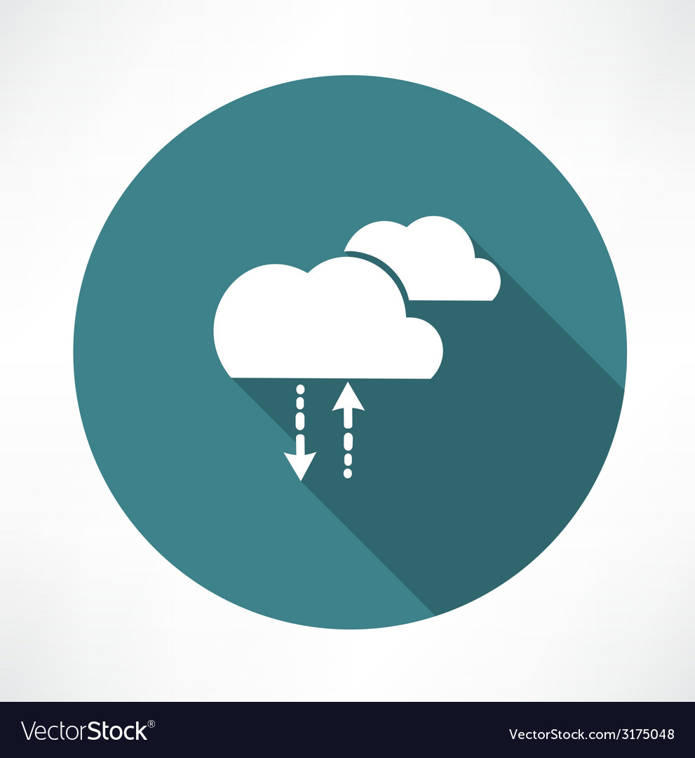 Cycle of precipitation icon vector | Price: 1 Credit (USD $1)