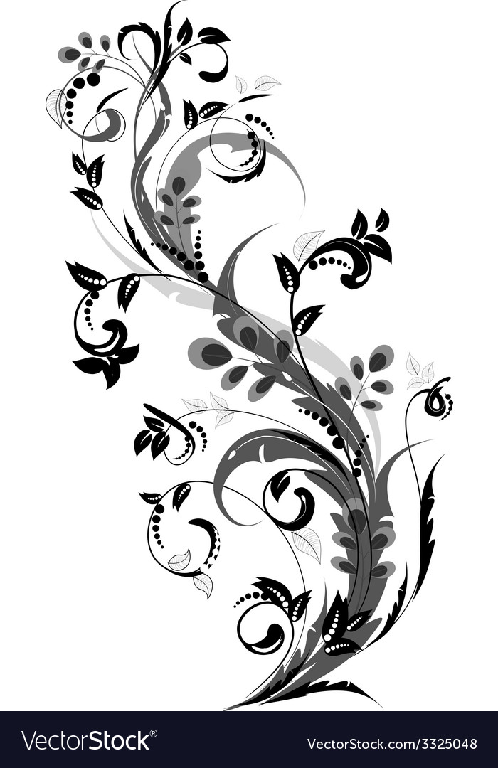 Floral ornament for your design vector | Price: 1 Credit (USD $1)