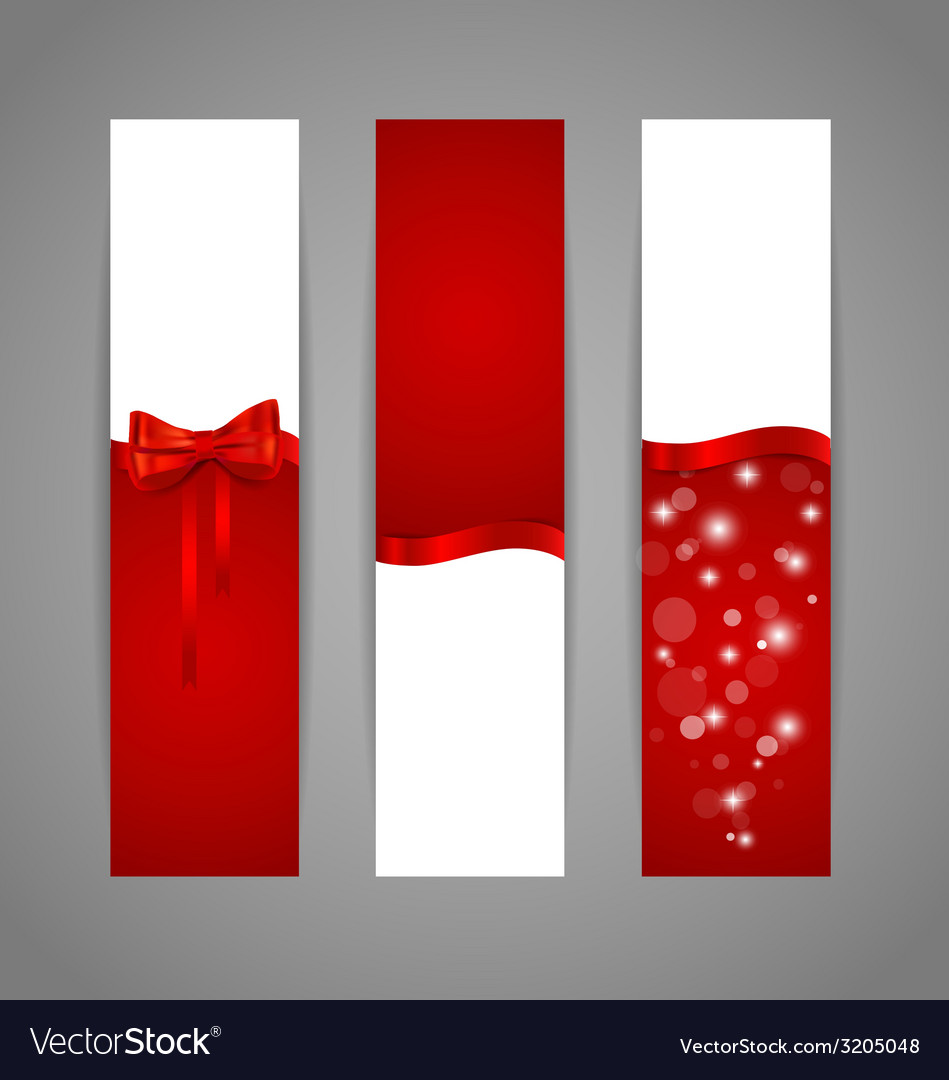 Gift cards with red ribbons vector | Price: 1 Credit (USD $1)