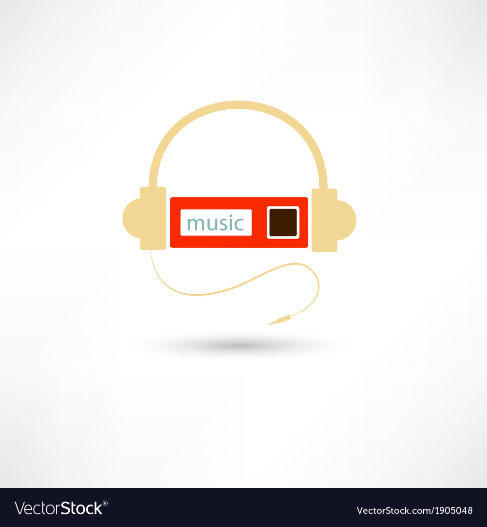 Headphones and mp3 player vector | Price: 1 Credit (USD $1)