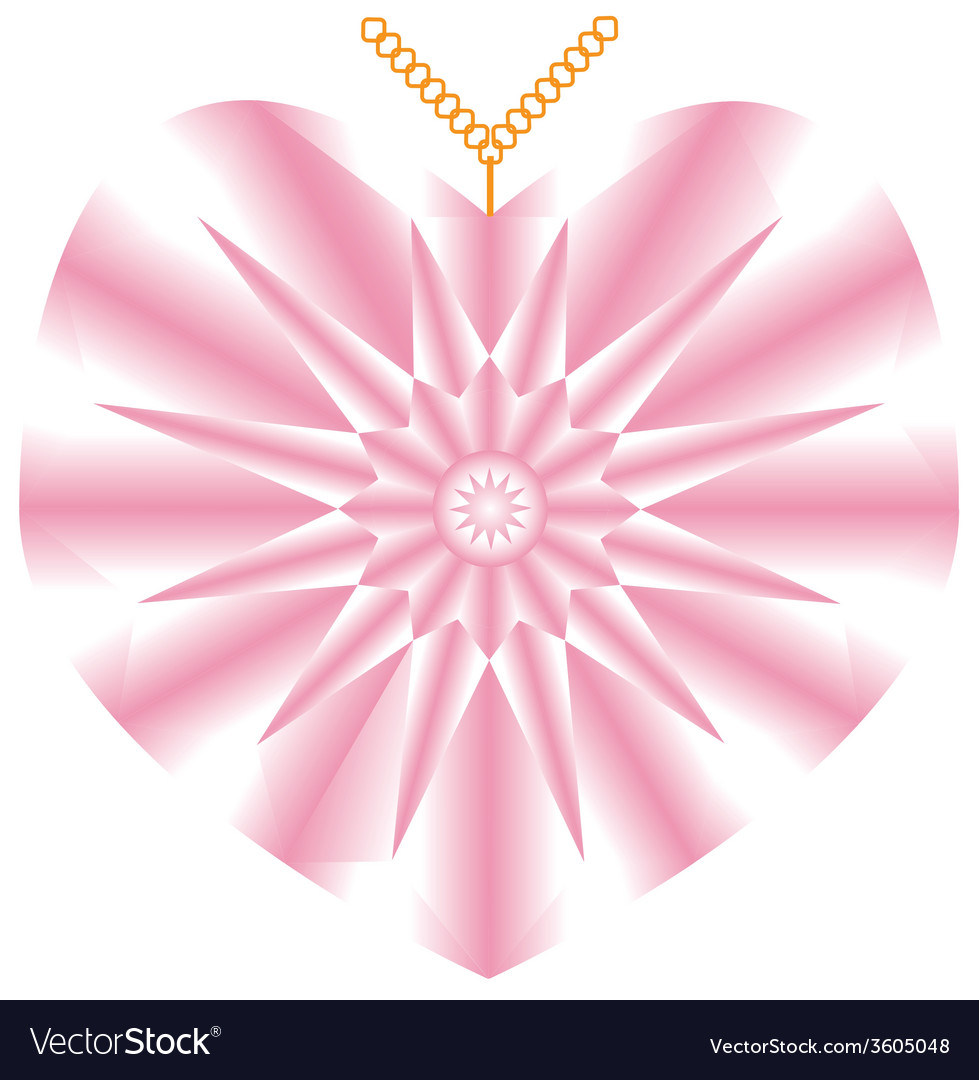 Heart brilliant vector