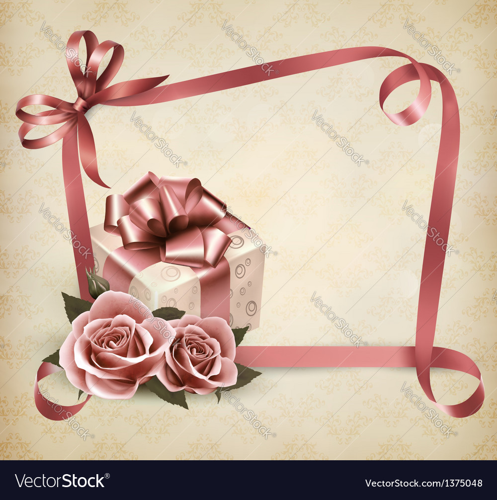 Holiday background gift box vector | Price: 3 Credit (USD $3)