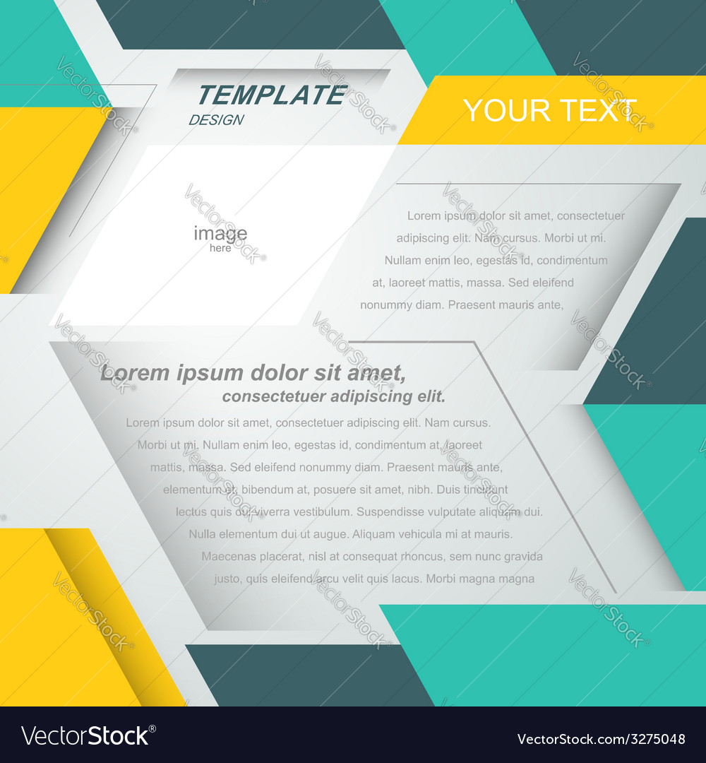 Mock-up flyer cover design geometric abstract vector | Price: 1 Credit (USD $1)