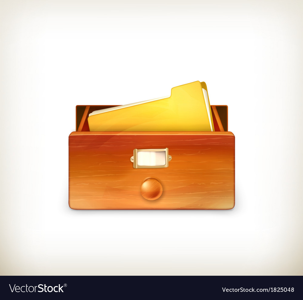 Open card catalog vector | Price: 1 Credit (USD $1)