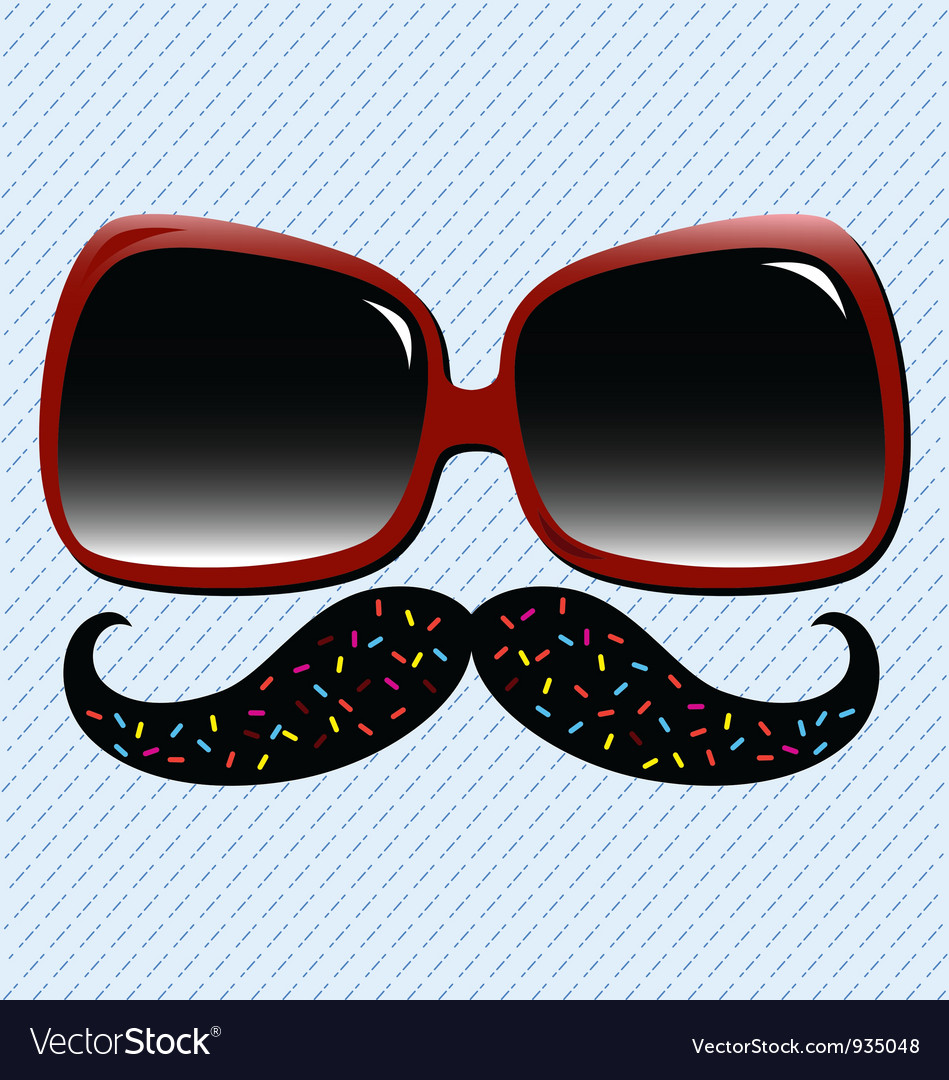 Summer fun mustache vector | Price: 1 Credit (USD $1)