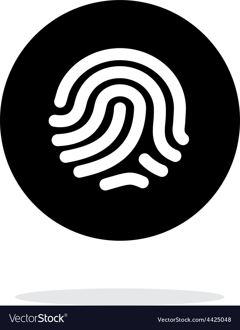 Thumbprint scanner icon on white background vector | Price: 1 Credit (USD $1)