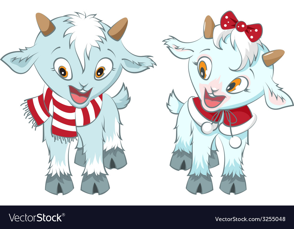 Two little goat symbol 2015 year vector | Price: 1 Credit (USD $1)