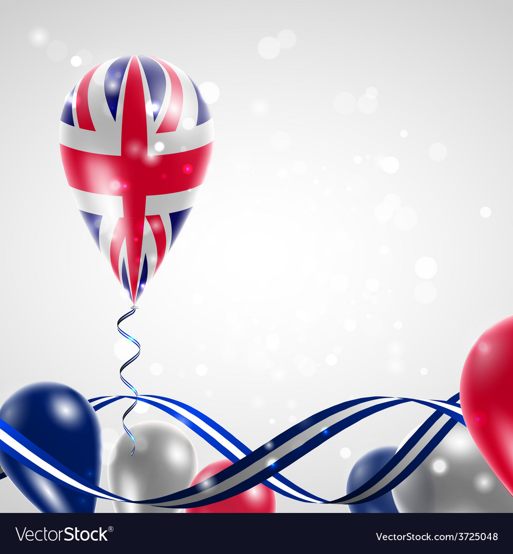 Uk flag on balloon vector | Price: 1 Credit (USD $1)