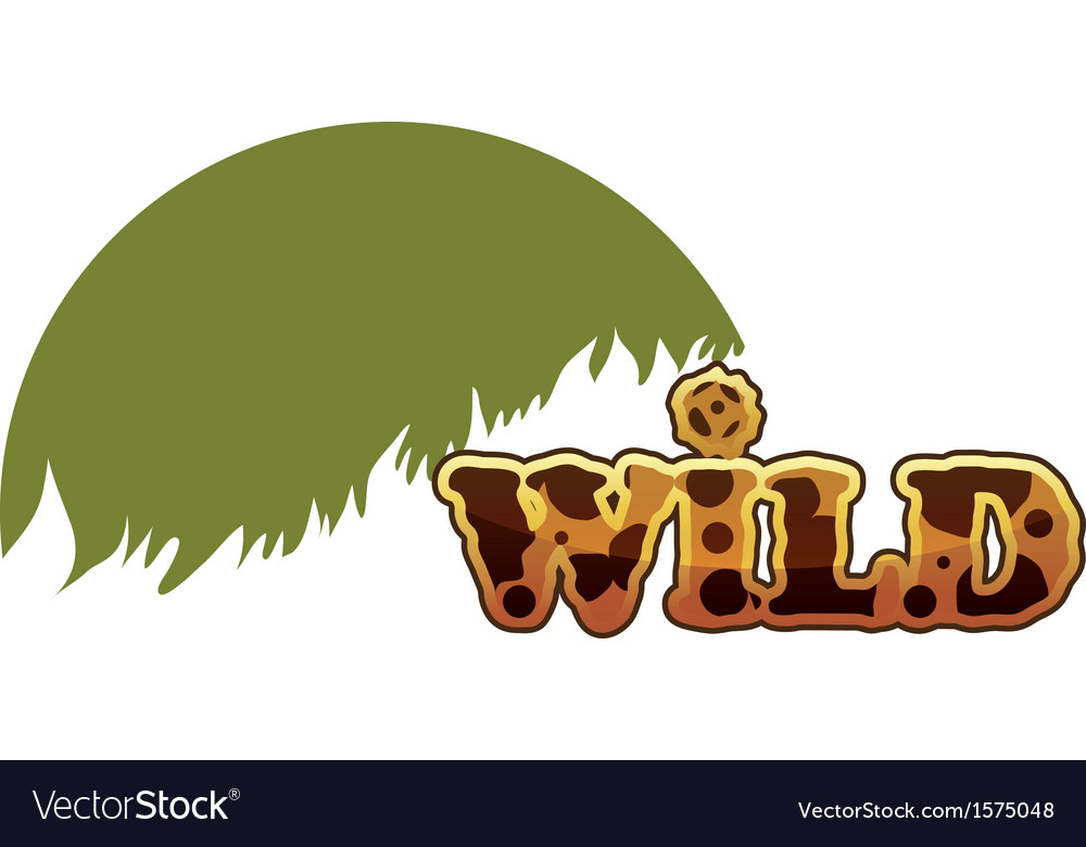 Wild text eps10 vector | Price: 1 Credit (USD $1)