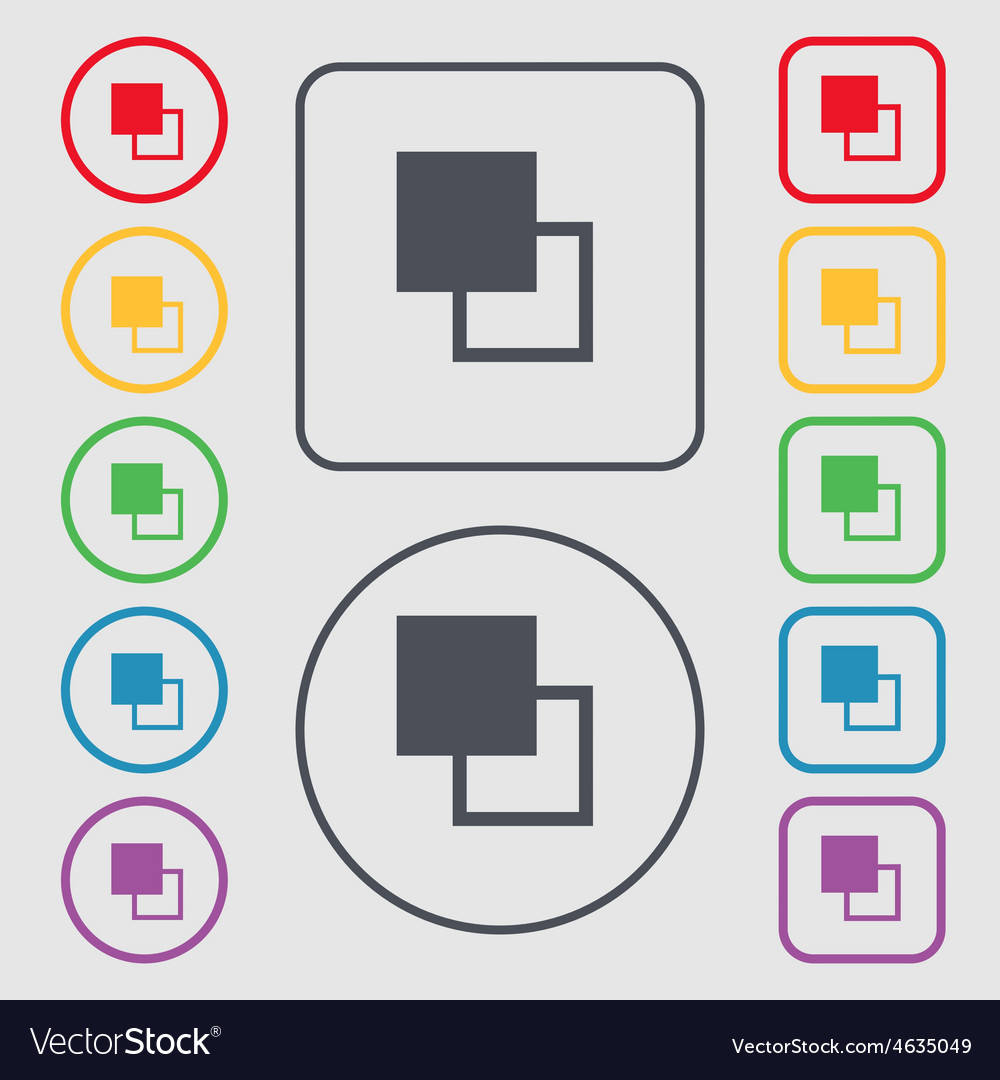 Active color toolbar icon sign symbol on the round vector | Price: 1 Credit (USD $1)