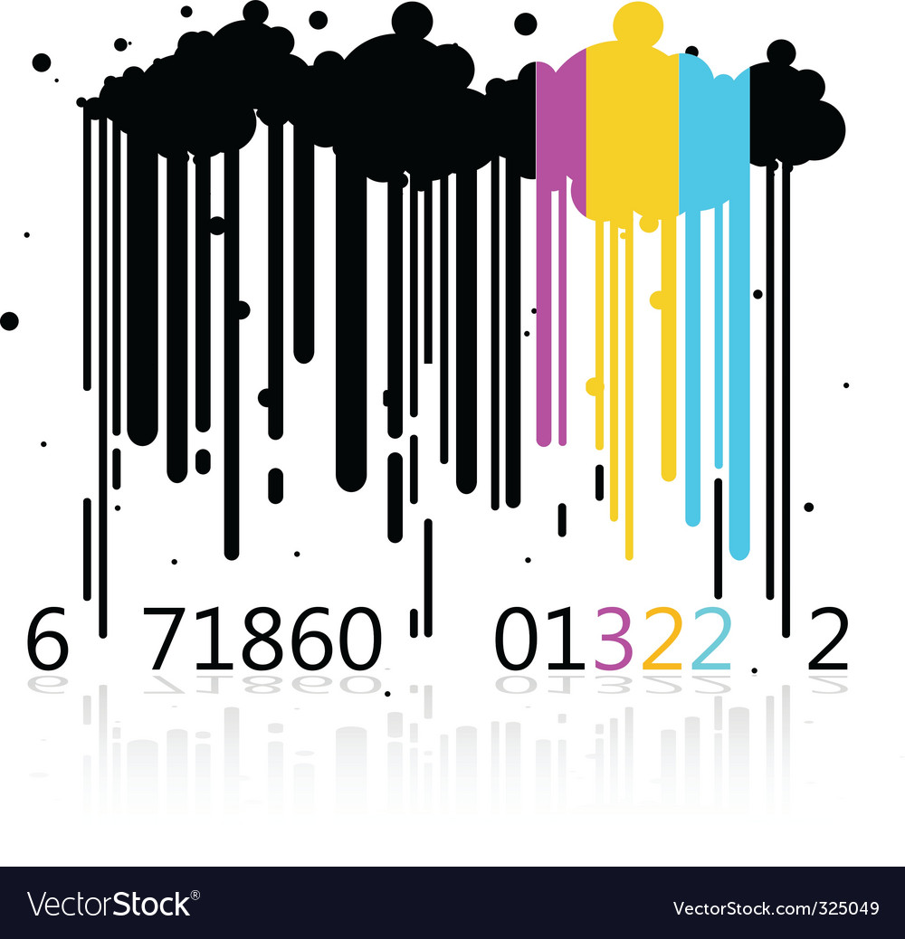 Dripping barcode vector   Price: 1 Credit (USD $1)