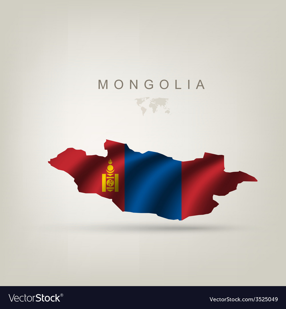 Flag of mongolia as a country vector | Price: 1 Credit (USD $1)