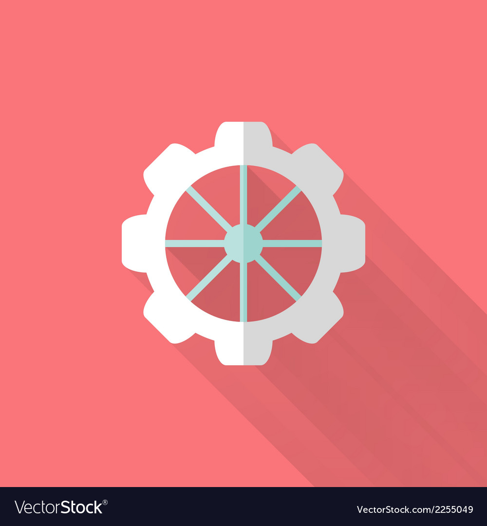 Flat gear wheel icons over pink vector | Price: 1 Credit (USD $1)