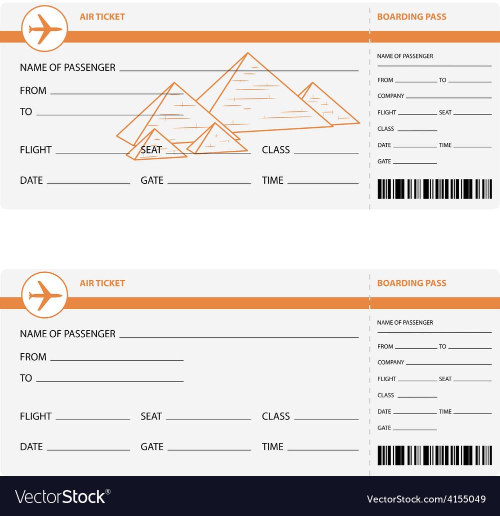 Plane tickets to egypt vector | Price: 1 Credit (USD $1)