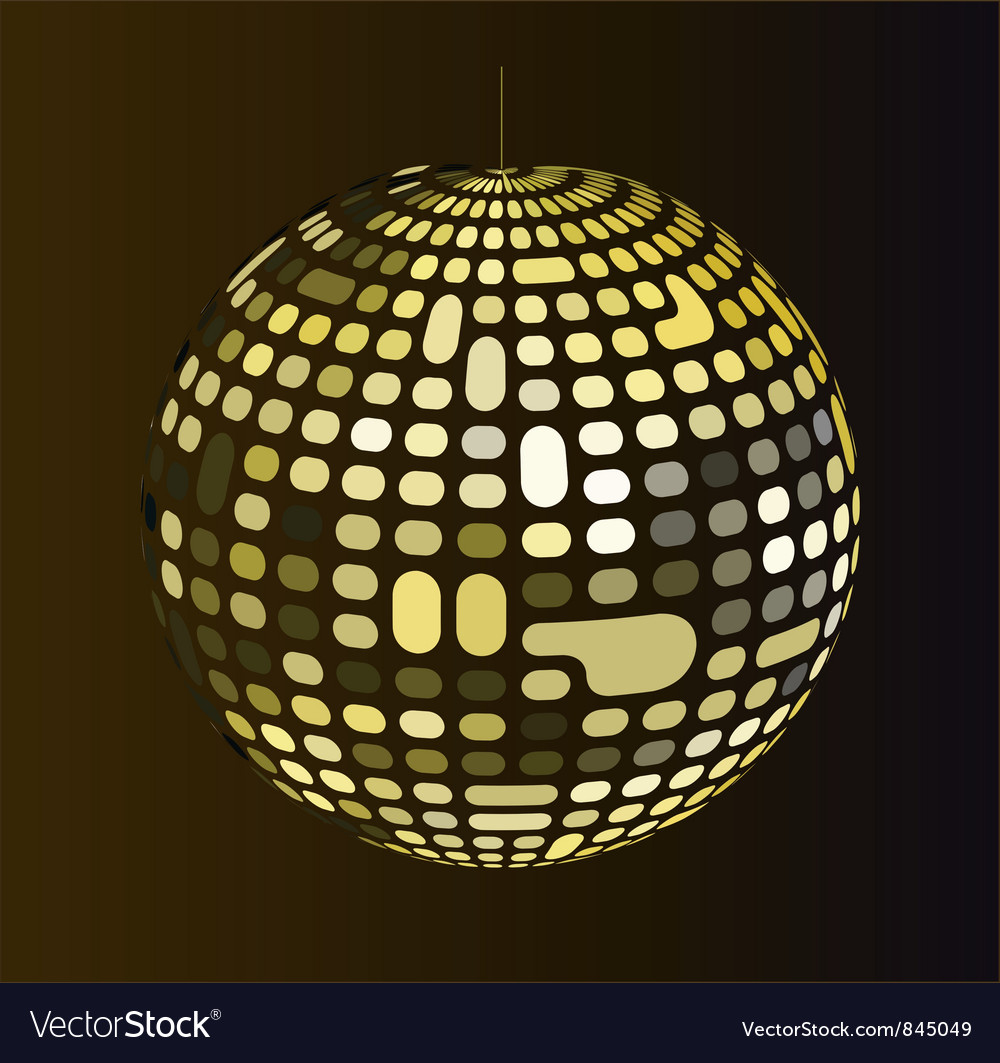 Retro disco ball vector | Price: 1 Credit (USD $1)