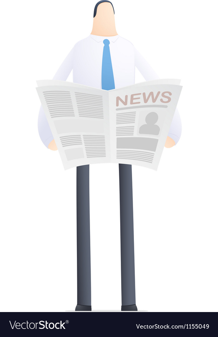 Young businessman reads the news vector | Price: 1 Credit (USD $1)