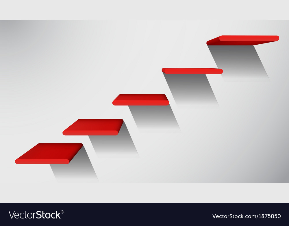 3d red stairs to success infographic element vector   Price: 1 Credit (USD $1)