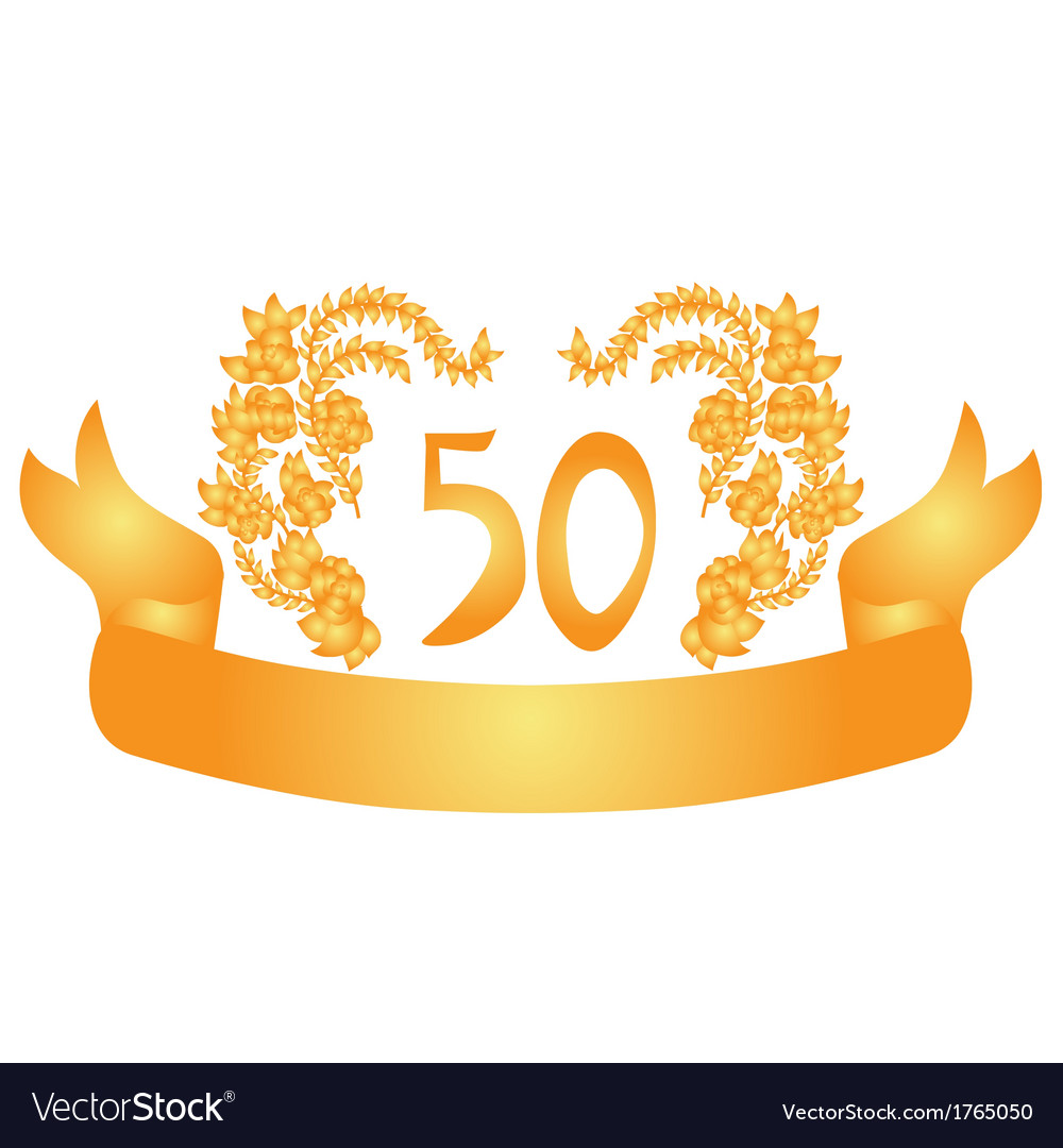 50 years anniversary banner vector