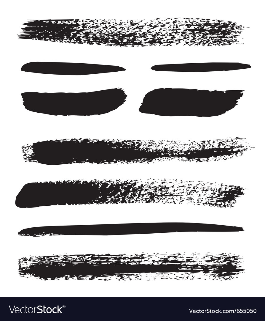 A collection of natural brush strokes vector | Price: 1 Credit (USD $1)