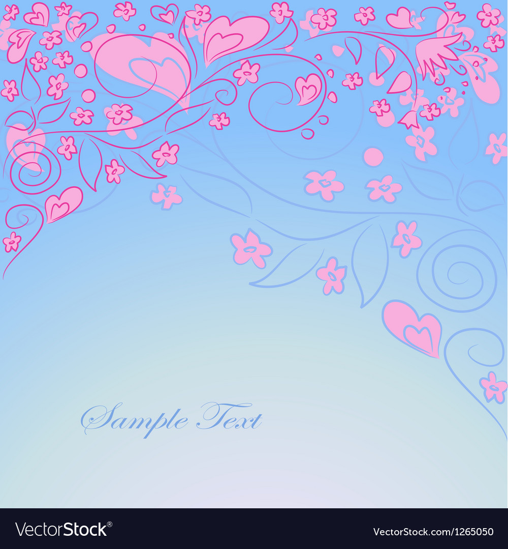 Blue background with hand drawing ornate vector | Price: 1 Credit (USD $1)
