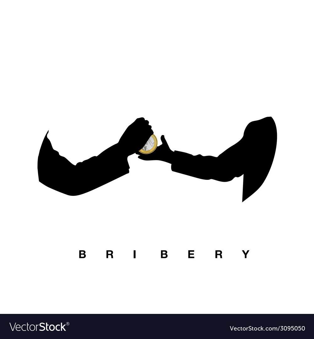 Bribery with hands black vector | Price: 1 Credit (USD $1)