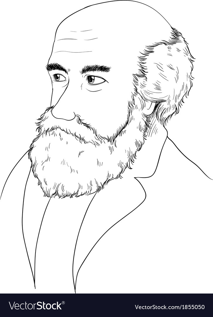 Charles darwin vector | Price: 1 Credit (USD $1)