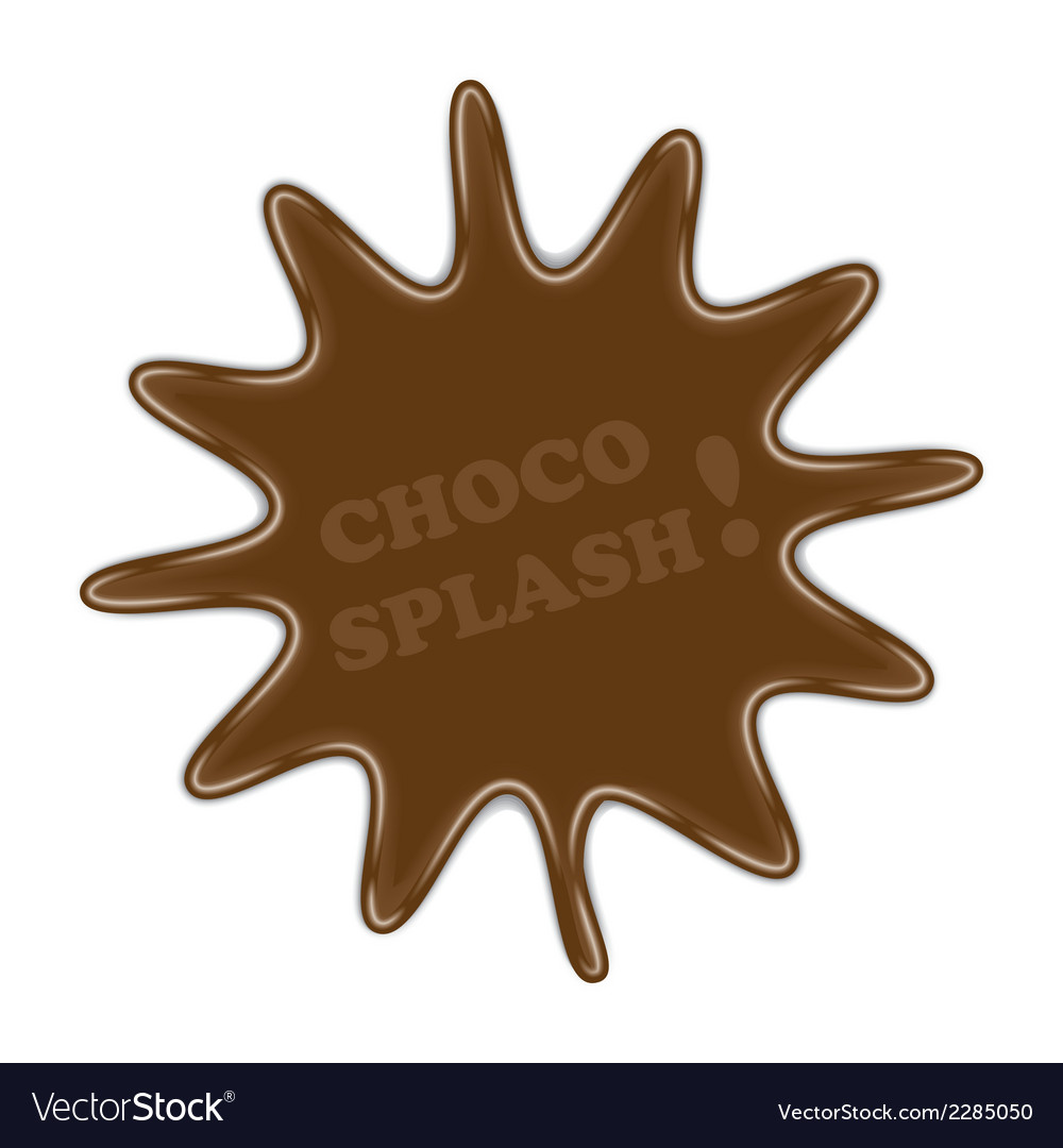 Choco splash vector | Price: 1 Credit (USD $1)