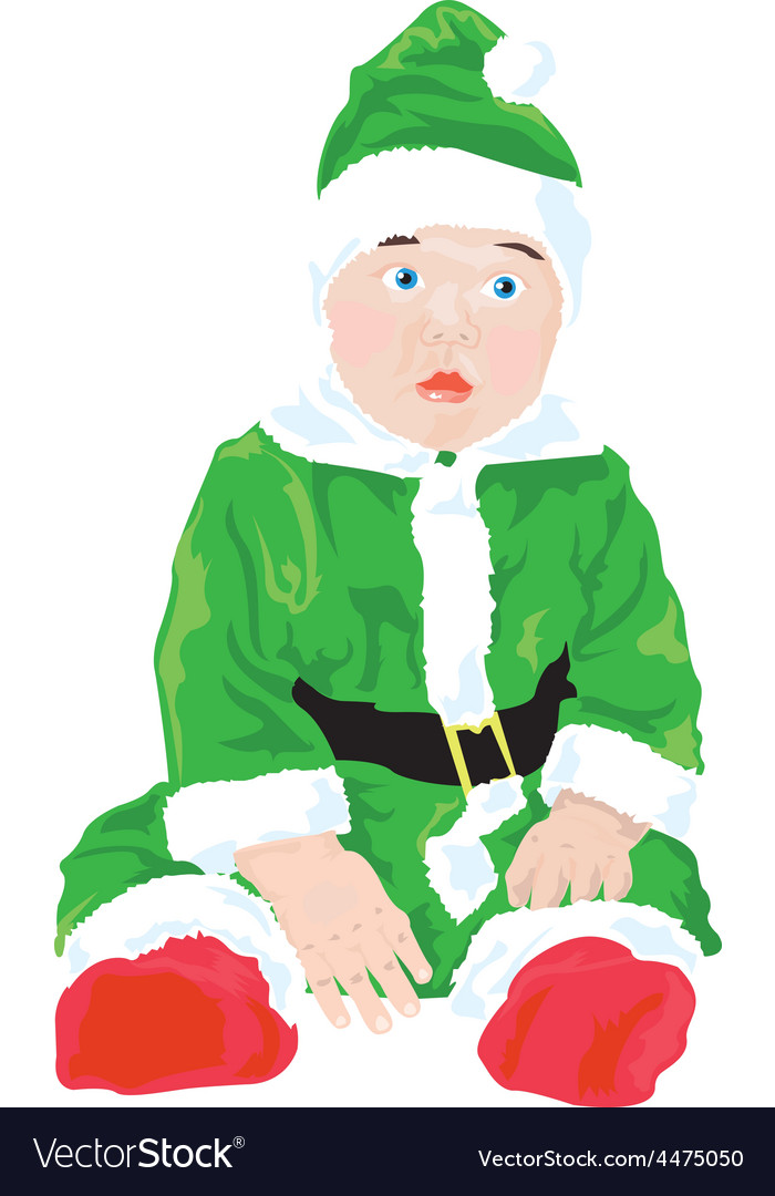 Christmas baby vector   Price: 1 Credit (USD $1)