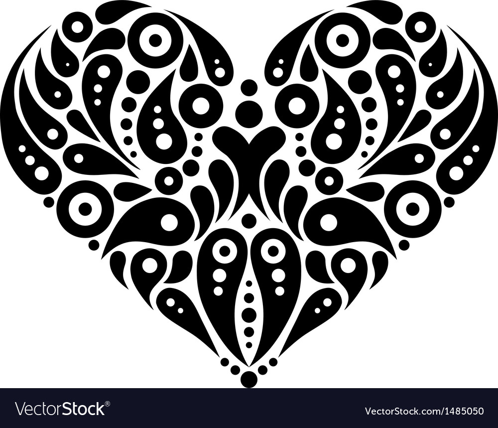 Decorative heart tattoo vector | Price: 1 Credit (USD $1)
