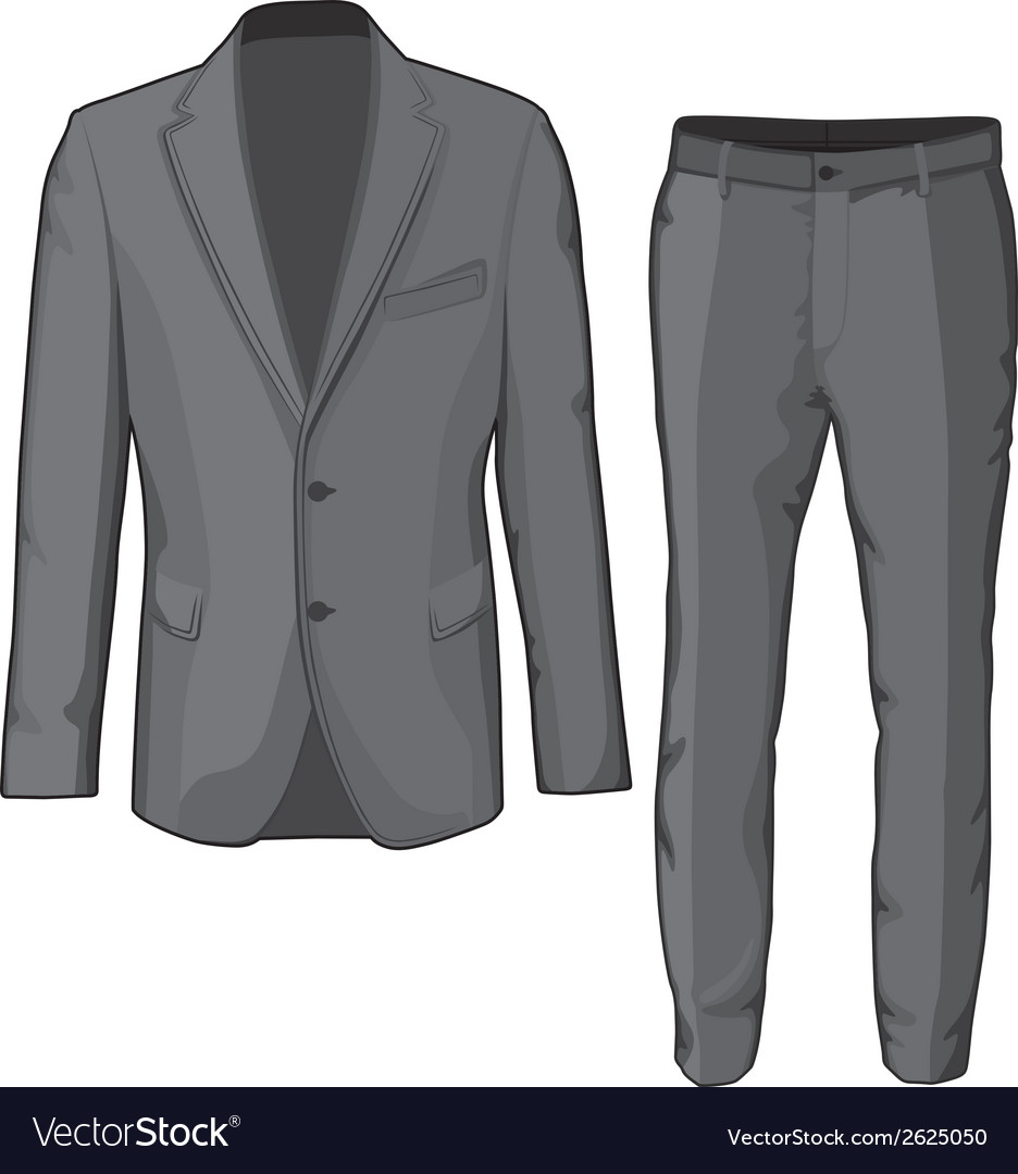 Male clothing suit coat and pants vector | Price: 1 Credit (USD $1)