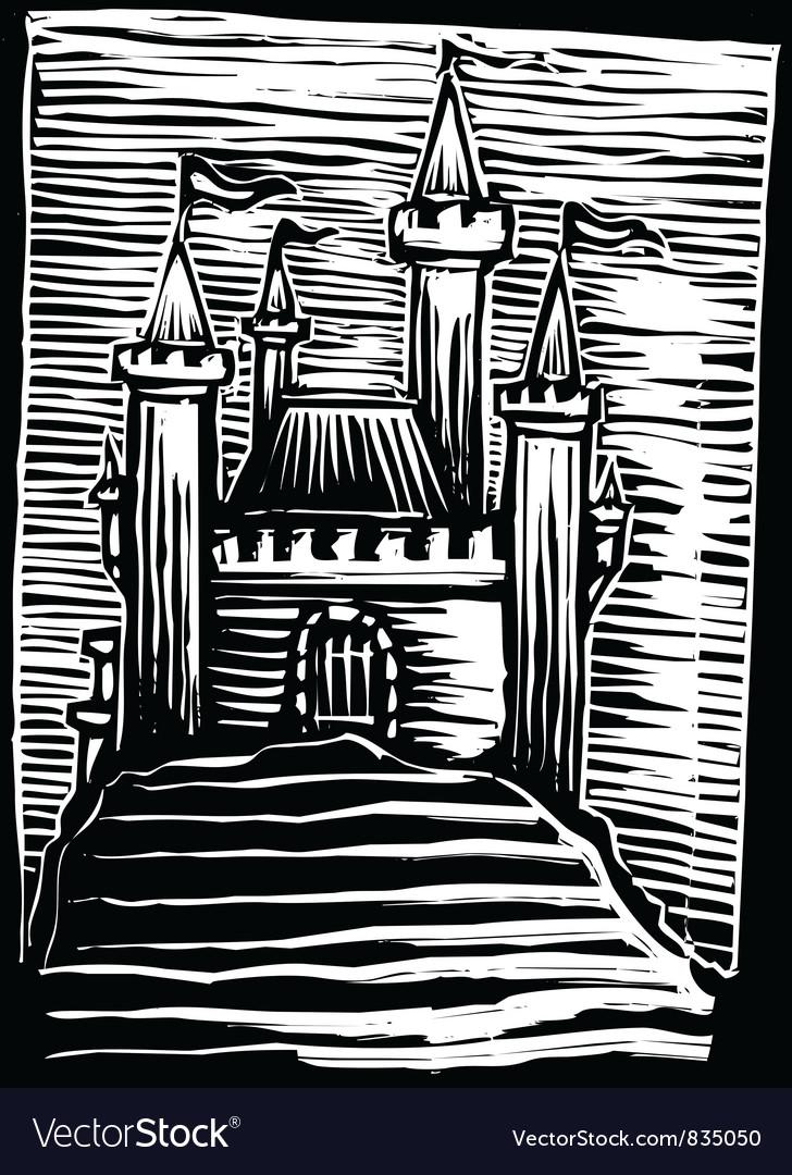 Medieval castle vector   Price: 1 Credit (USD $1)