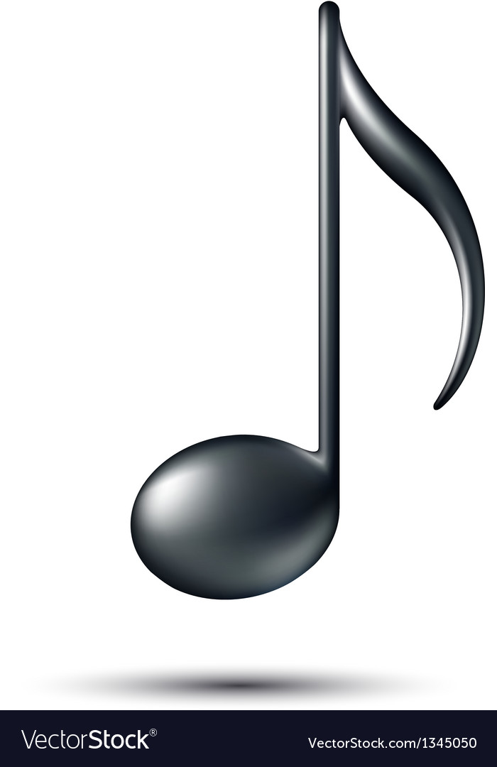Music note sign vector | Price: 1 Credit (USD $1)