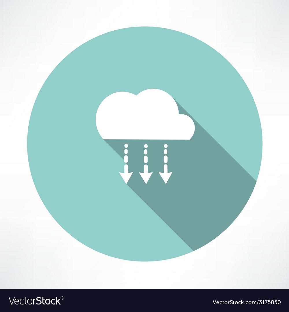 Precipitation icon vector | Price: 1 Credit (USD $1)