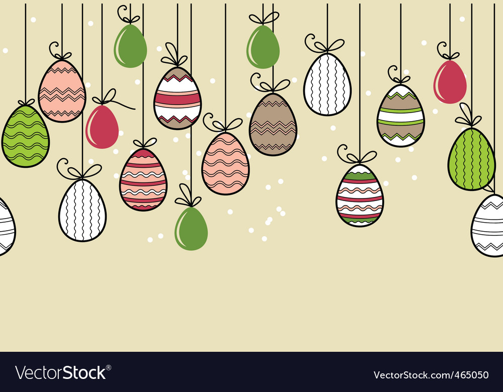 Seamless easter pattern with eggs vector | Price: 1 Credit (USD $1)
