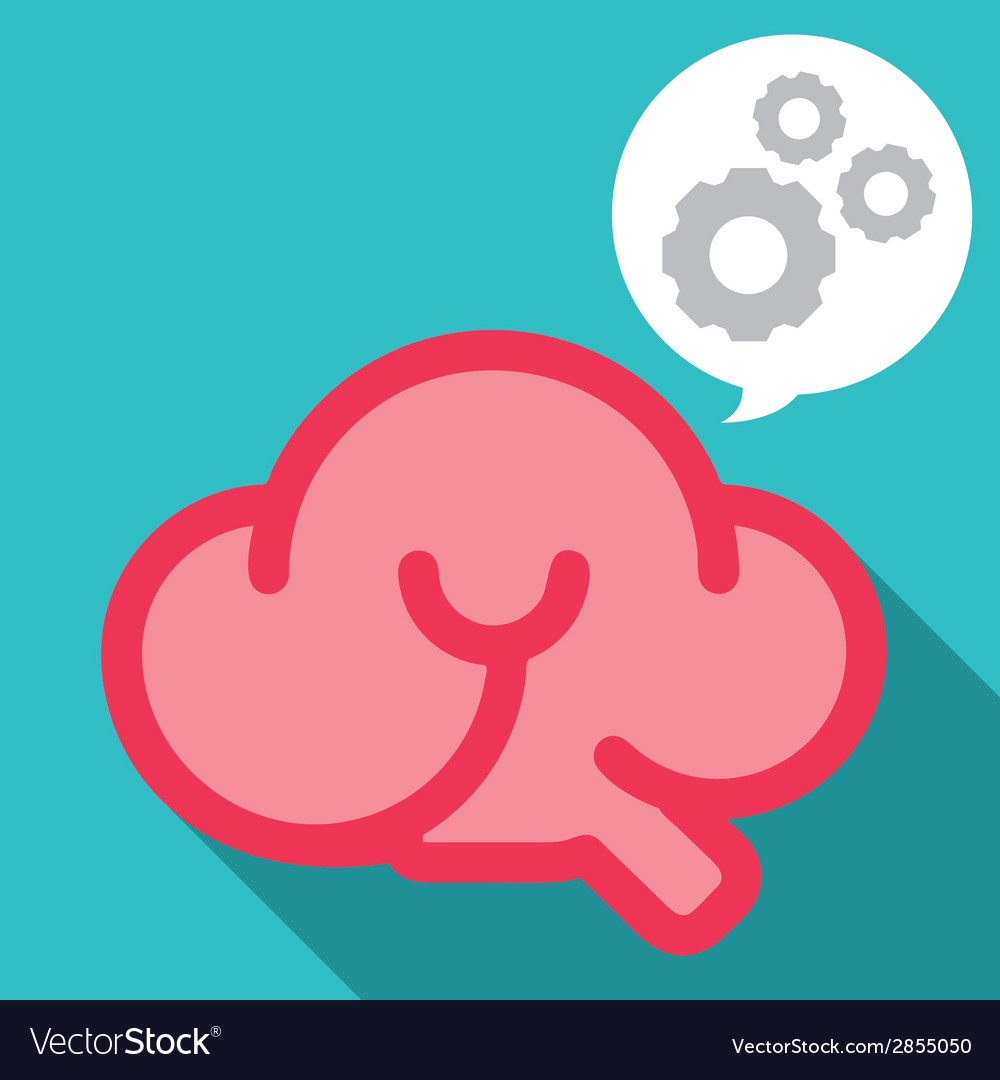 Smile brain work smart vector | Price: 1 Credit (USD $1)