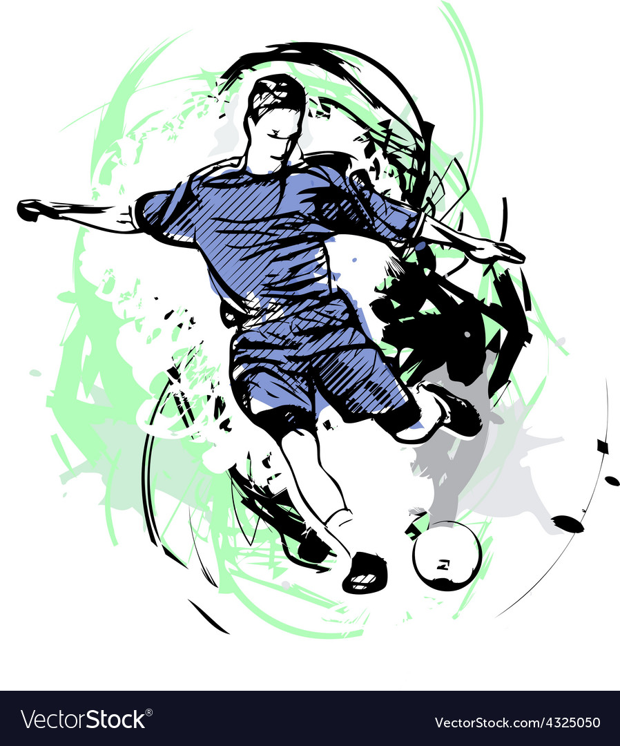 Soccer player vector | Price: 3 Credit (USD $3)