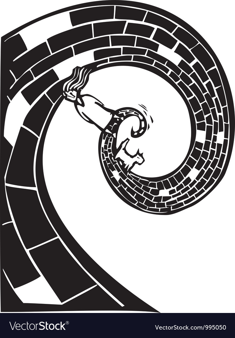 Spiral road vector | Price: 1 Credit (USD $1)