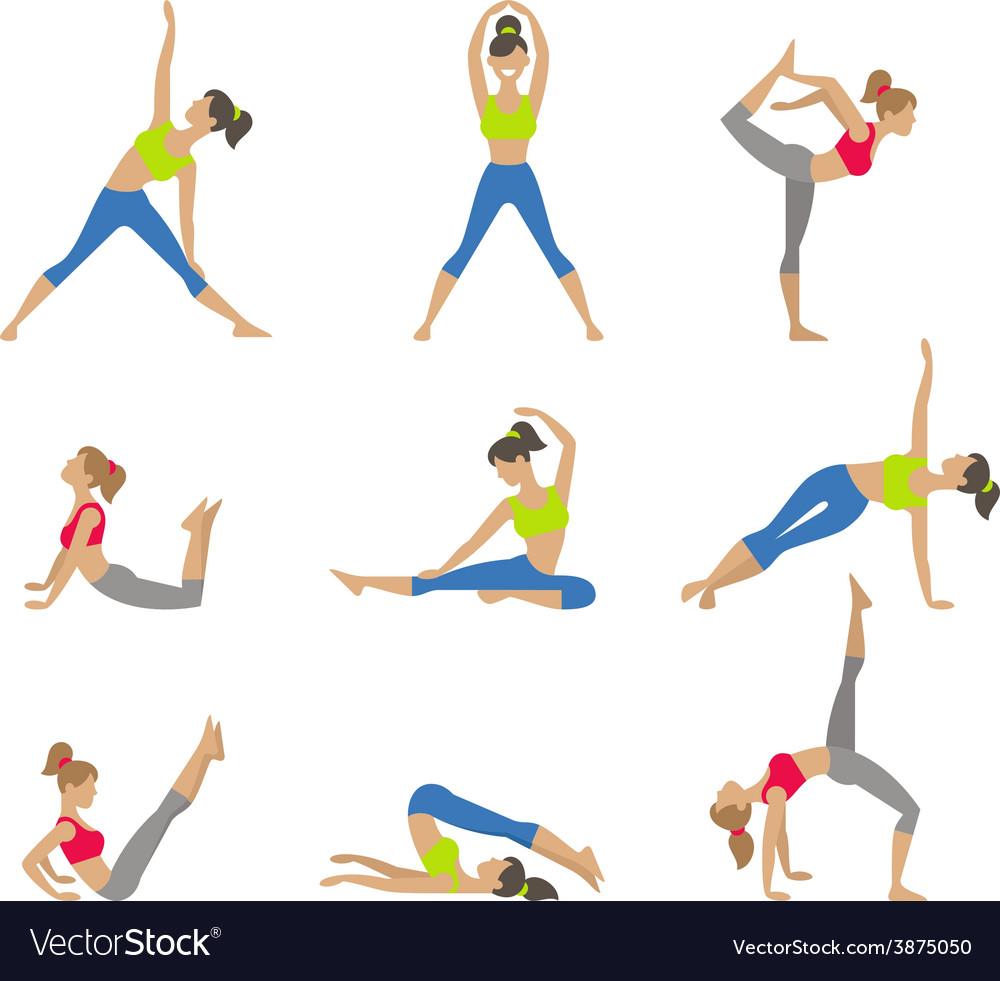 Yoga  surya namaskara yoga vector | Price: 1 Credit (USD $1)
