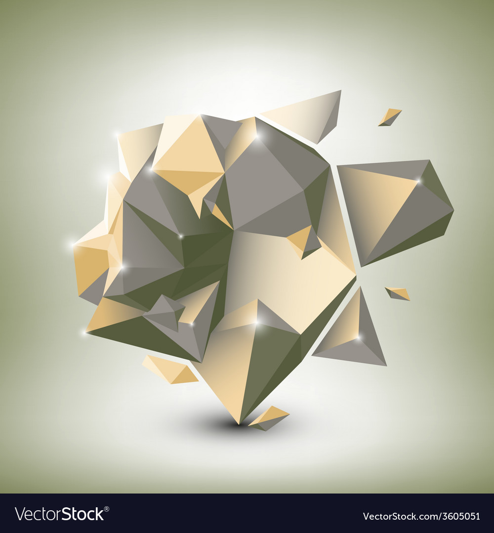 Abstract dimensional polygonal geometric vector   Price: 1 Credit (USD $1)