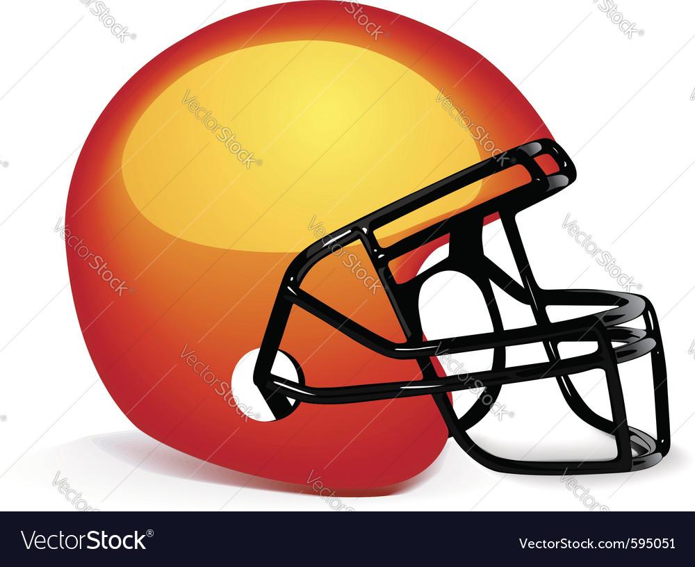 American gridiron helmet vector | Price: 1 Credit (USD $1)