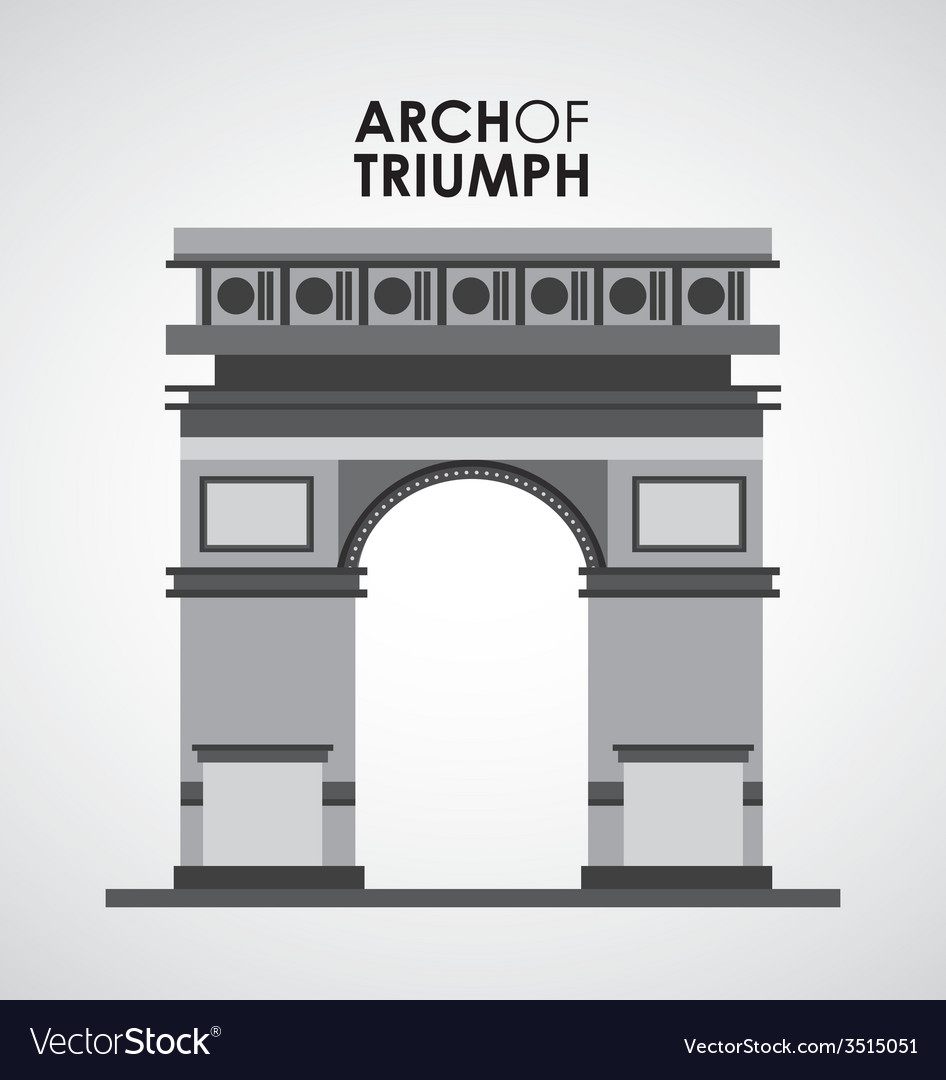 Arch of triumph vector | Price: 1 Credit (USD $1)
