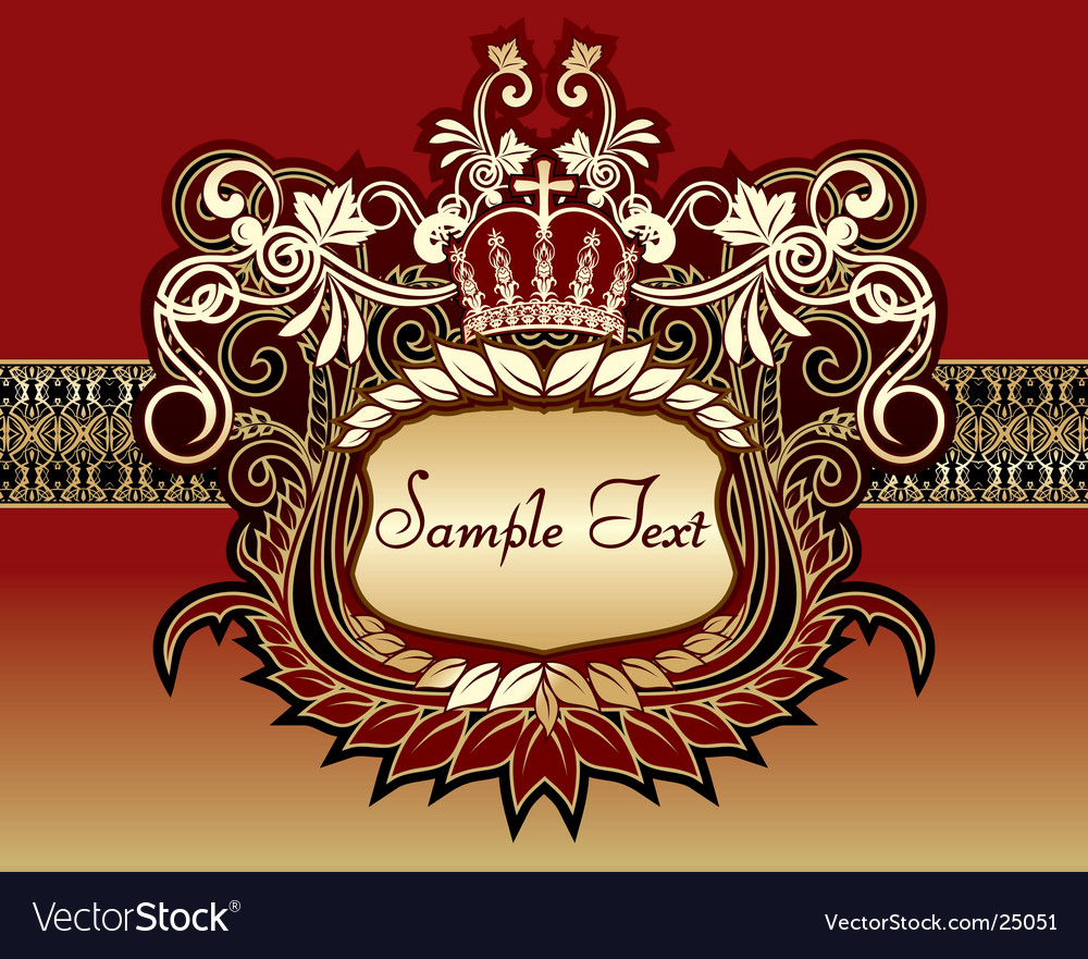 Beautiful background with gold pattern vector | Price: 3 Credit (USD $3)