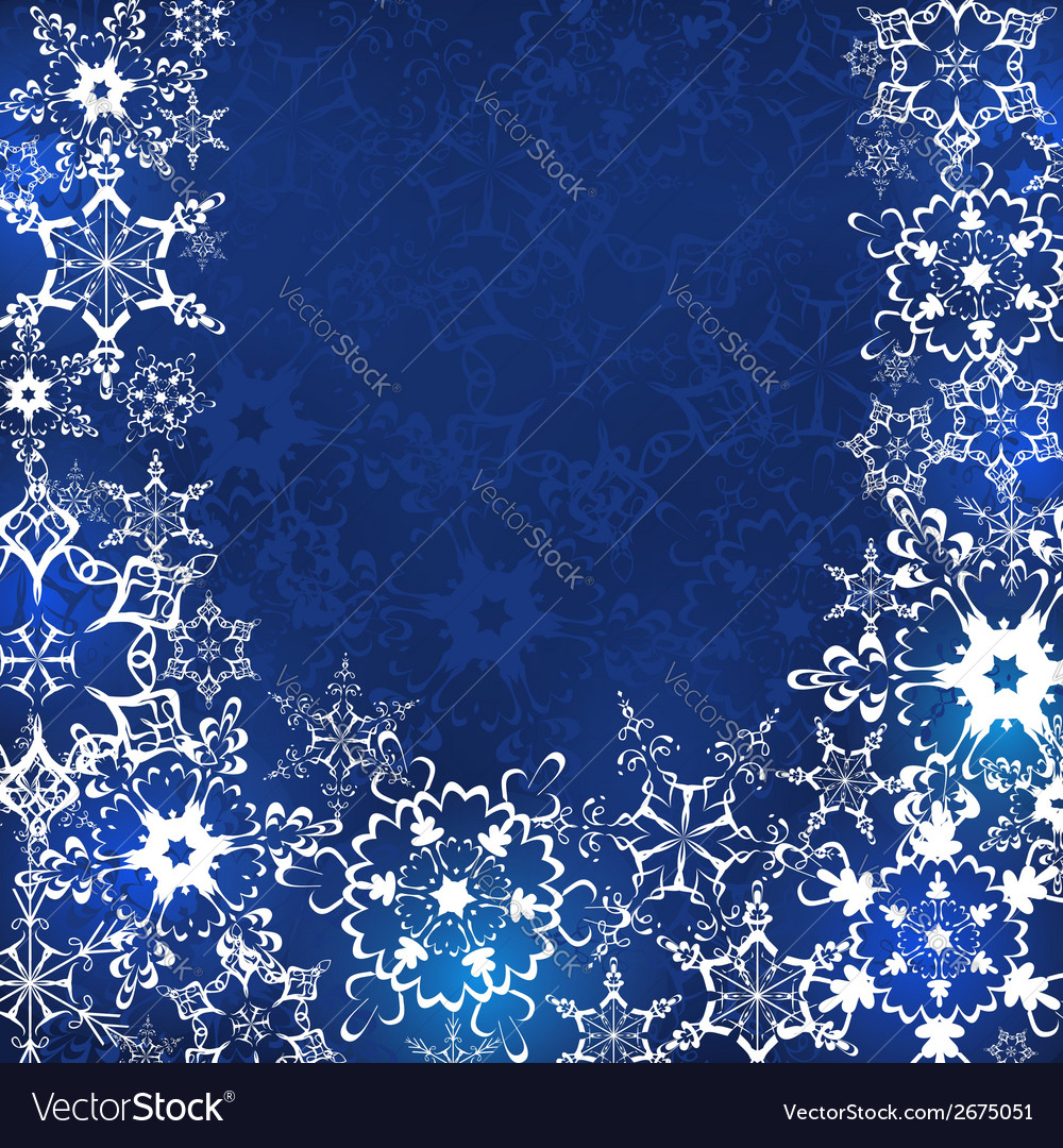 Blue winter background with snowflakes vector | Price: 1 Credit (USD $1)