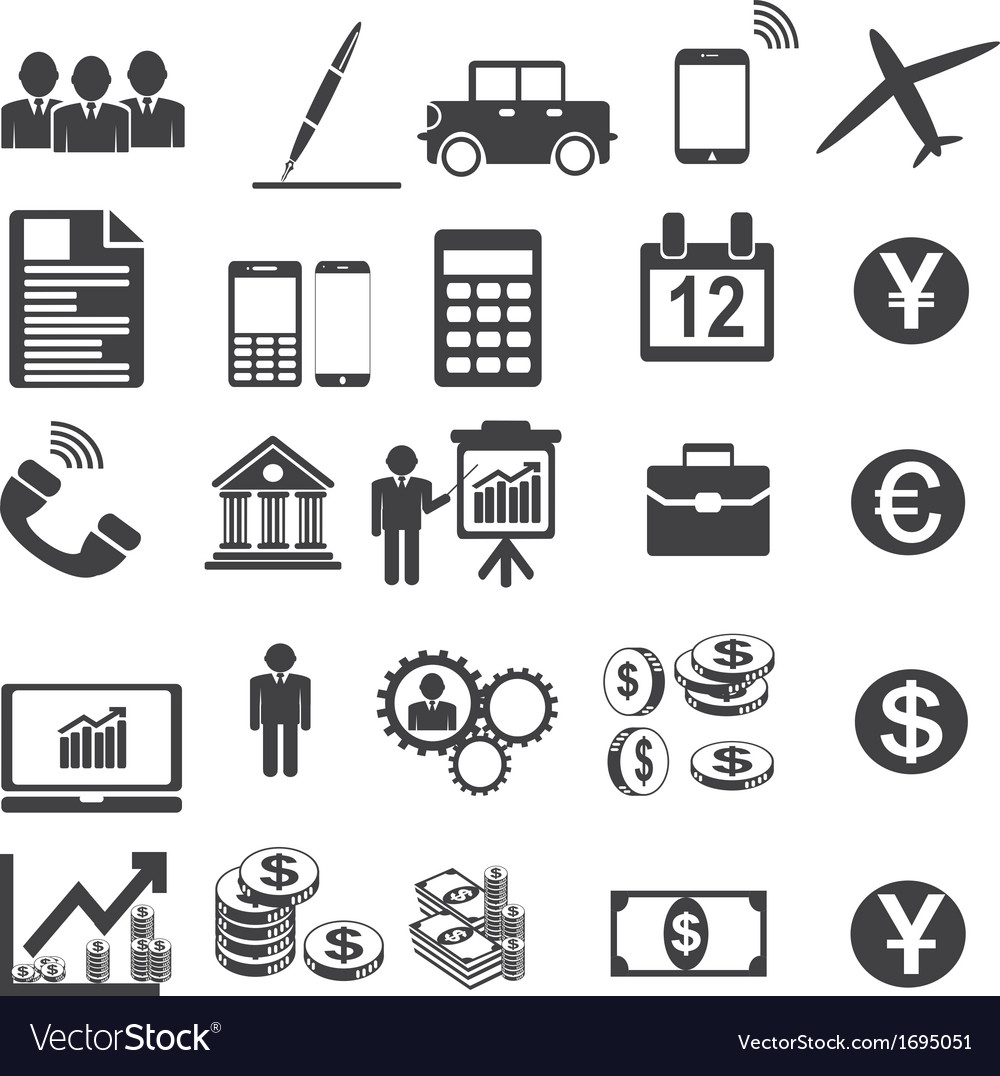 Business icons simplus serie vector | Price: 1 Credit (USD $1)