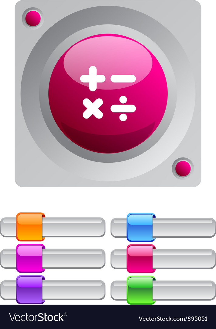 Calculate color round button vector | Price: 1 Credit (USD $1)