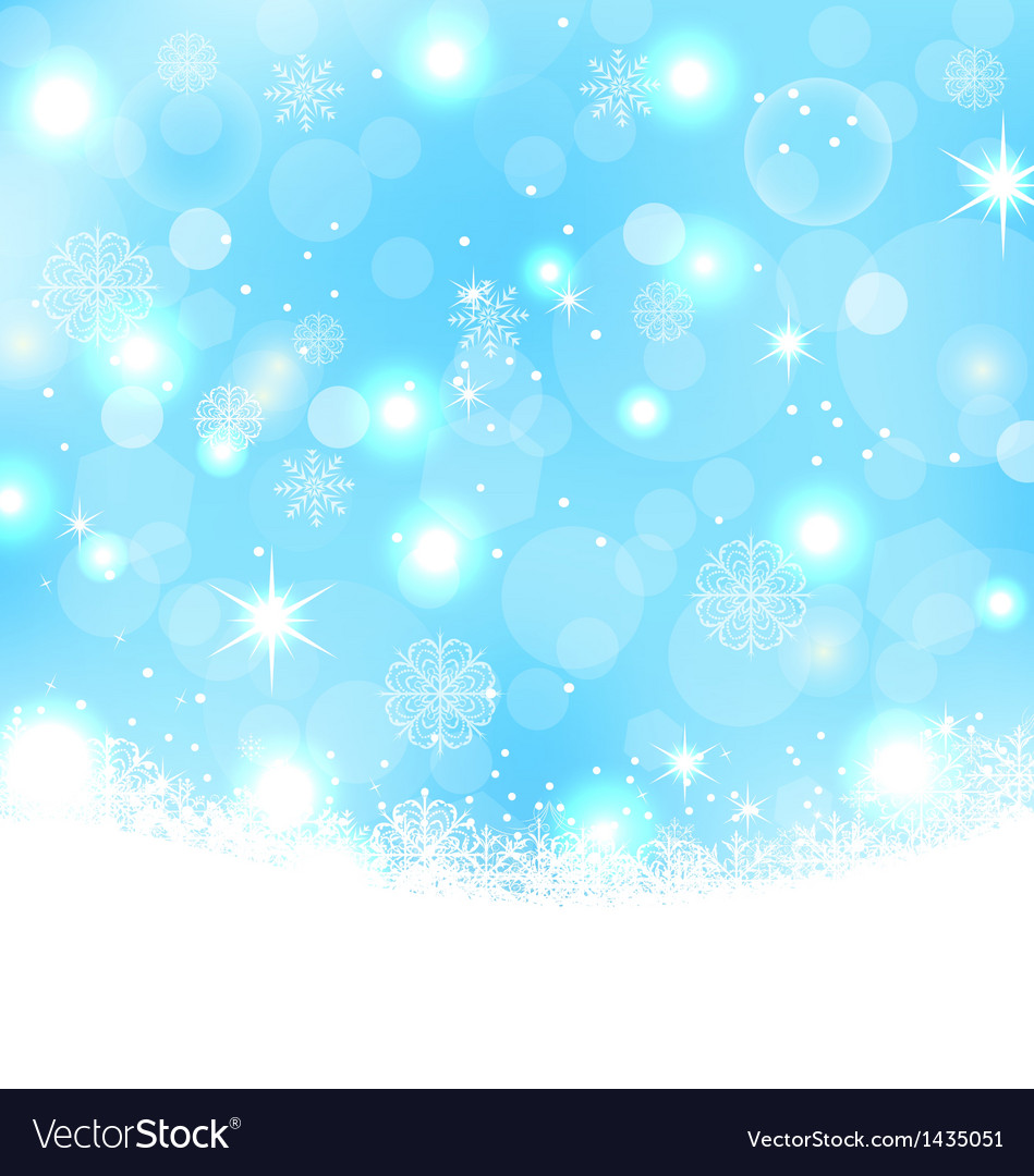Christmas abstract background with snowflakes vector | Price: 1 Credit (USD $1)